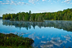 Adirondack Lake Blissful Morning. Adirondack Lake near the town of Indian Lake in the Adirondack Mountains of New York stock images