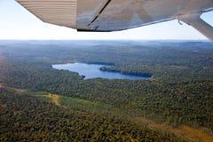 Adirondack lasy, jeziora, zatoczki i góra powietrzny teren v, Zdjęcie Stock