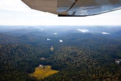Adirondack lasy, jeziora, zatoczki i góra powietrzny teren v, Fotografia Stock
