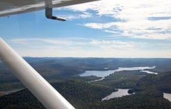 Adirondack lasy, jeziora, zatoczki i góra powietrzny teren v, Zdjęcia Royalty Free