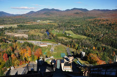 Adirondack Mountains in fall Royalty Free Stock Photos