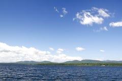 Adirondack Mountains from Lake Champlain. View of the Adirondack Mountains of New York from Lake Champlain Royalty Free Stock Photography