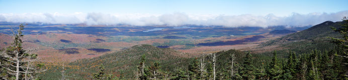 Adirondack Mountains Panorama Stock Photography