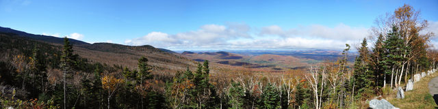 Adirondack Mountains Panorama, USA Royalty Free Stock Image