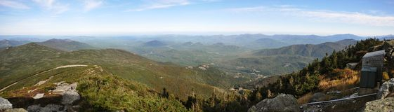 Adirondack Mountains panorama in fall Royalty Free Stock Photography