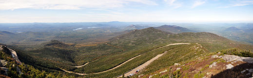 Adirondack Mountains panorama in fall Royalty Free Stock Image