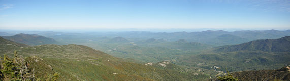 Adirondack Mountains panorama in summer Stock Image
