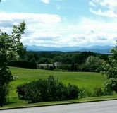 Adirondack Mountains. From the Vermont side Royalty Free Stock Image