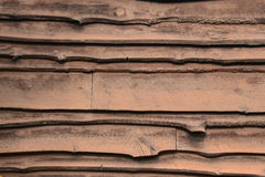 Adirondack siding stained brown Stock Images