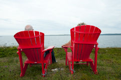 Adirondack sitzt - Nova Scotia - Kanada vor Stockfotografie