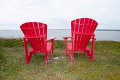 Adirondack sitzt - Nova Scotia - Kanada vor Lizenzfreie Stockfotografie