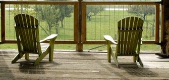 Adirondack Stühle Lizenzfreies Stockfoto