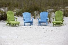 Adirondack-Stühle Lizenzfreies Stockfoto