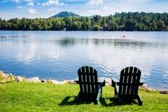 Adirondack Stühle Lizenzfreie Stockfotografie
