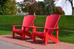 Adirondack Stühle Lizenzfreies Stockbild