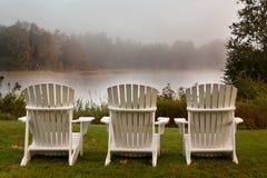 Adirondack Stühle Stockbild