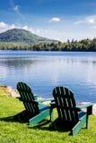 Adirondack stolar Royaltyfri Fotografi