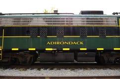 Adirondack Taborowego samochodu lokomotoryczny boczny widok Zdjęcie Royalty Free