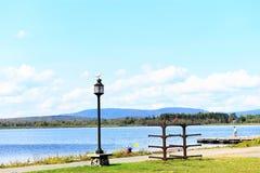Adirondack tupper lake boardwalk pier stock photography