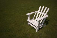 Adirondack white chair stock photos