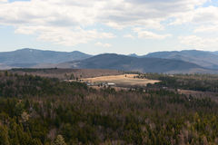 Adirondacks-Panorama-Ansicht in Lake Placid Stockfoto
