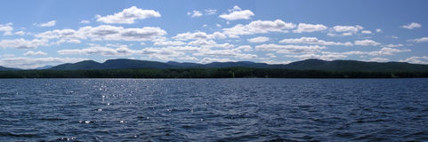 Adirondak Mountains from Lake Champlain royalty free stock images