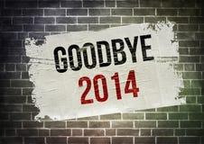 ADIÓS 2014 Imágenes de archivo libres de regalías