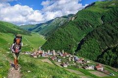 Adishi bymuseum i Svaneti georgia Royaltyfria Bilder