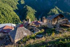 Adishi-Dorf, Svaneti, Georgia Lizenzfreie Stockbilder