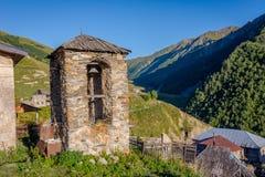 Adishi-Dorf, Svaneti, Georgia Stockfotos