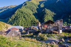 Adishi-Dorf, Svaneti, Georgia Stockfotografie