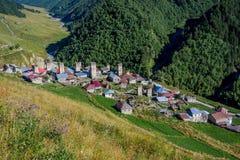 Adishi-Dorf, Svaneti, Georgia Stockfoto