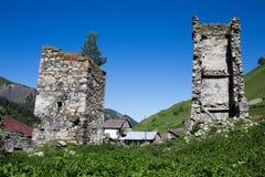 Adishi-Dorf in Svaneti, Georgia Stockfotografie
