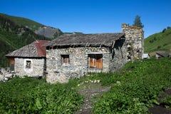 Adishi-Dorf in Svaneti, Georgia Lizenzfreie Stockfotos