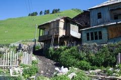 Adishi-Dorf in Svaneti, Georgia Lizenzfreies Stockfoto