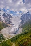 Adishi-Gletscher, Georgia Stockfotos