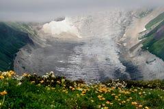 Adishi-Gletscher in Svaneti Stockbilder
