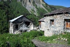 Adishi village in Svaneti, Georgia Stock Photos