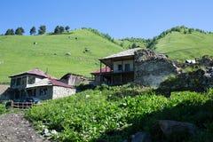 Adishi village in Svaneti, Georgia Stock Images