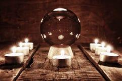 Adivinación futura de la vela de la caja Imágenes de archivo libres de regalías