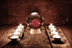 Adivinación futura de la vela de la caja Fotos de archivo libres de regalías