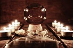 Adivinación futura de la vela de la caja Fotos de archivo