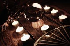 Adivinación futura de la vela de la caja Imagen de archivo libre de regalías