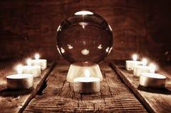 Adivinación futura de la vela de la caja Imagenes de archivo