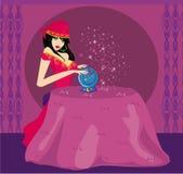 Adivino con Crystal Ball Imágenes de archivo libres de regalías