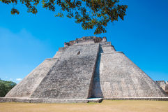 Adivino-Pyramid at Uxmal on the Yucatan peninsula Royalty Free Stock Photography