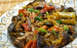Azerbaijani adjab-sandal. Adjab-sandal - Azerbaijani dish of vegetables and meat Royalty Free Stock Photography