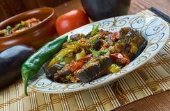 Azerbaijani adjab-sandal. Adjab-sandal - Azerbaijani dish of vegetables and meat Stock Photos