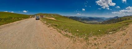 ADJARA, GEÓRGIA - 8 DE AGOSTO DE 2017: Panorama Akhaltsikhe da paisagem Foto de Stock Royalty Free