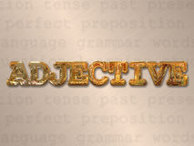 Adjective concept Royalty Free Stock Images